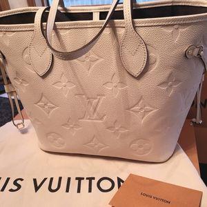 **SOLD Louis Vuitton Neverfull cream empreinte